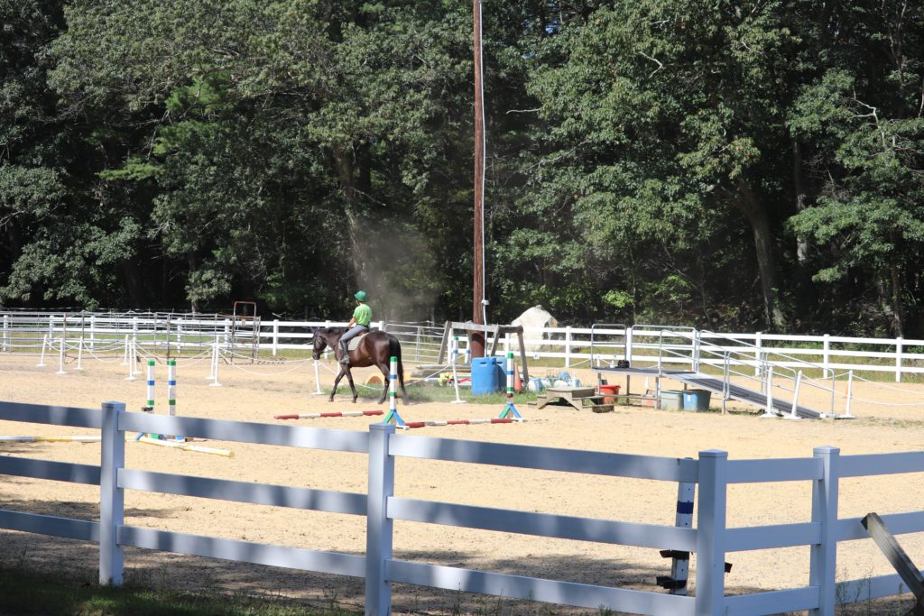 Large outdoor arena for therapeutic riding lessons